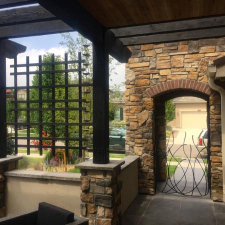 steel gate and lattice