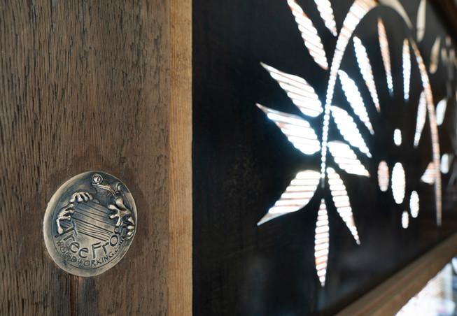 steel and wood window screen