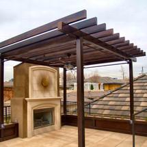Patinated Steel Rooftop Pergola