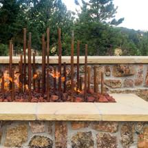 Steel Fire Feature