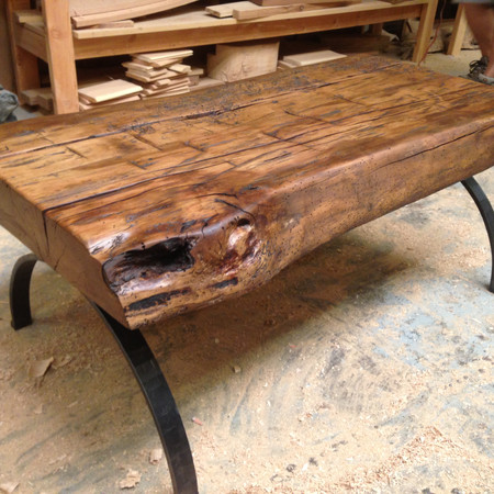 reclaimed wood table coffee table