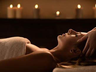 Young woman enjoys massage in a luxury s