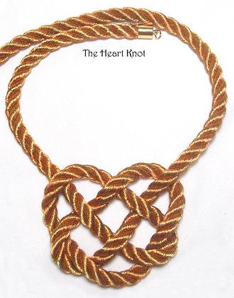 Gold & Orange Heart Knot
