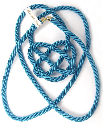 Turquoise Heart Knot