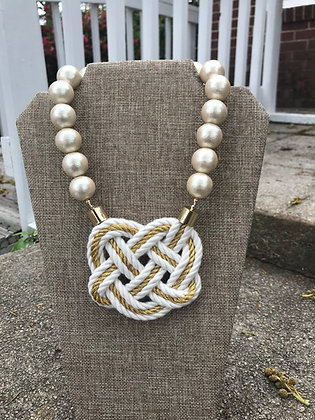 Gold Lining Double White on Cotton Pearls