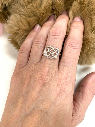 The Heart Knot Ring
