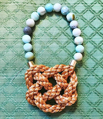 Amazonite Golden Braid