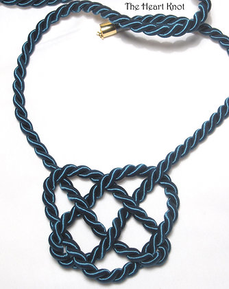 Teal Heart Knot