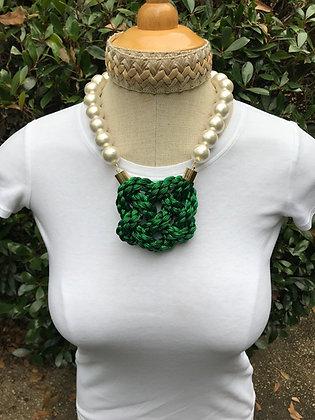 Metallic Braid on Cotton Pearls