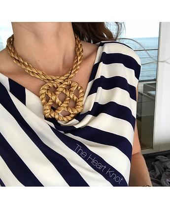 Golden Medallion Heart Knot