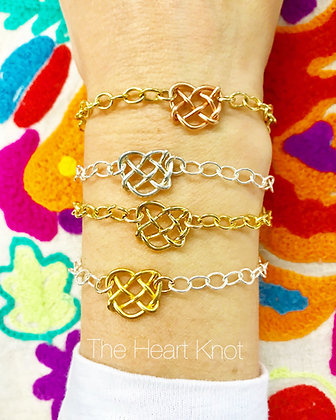 Almost Tiny Heart Bracelet in Gold Plate w/ Gold Filled Chain