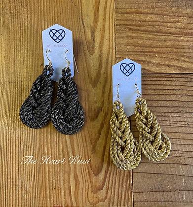 Pippa Earrings in Black & Gold