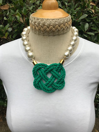Double Emerald Green on Cotton Pearls