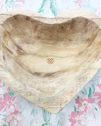 Tiny 14K Rose Gold Plate Heart Knot