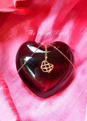 Tiny Precious Heart Knot in 14K Gold