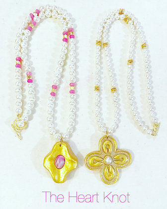 Pearls with Cross Pendants
