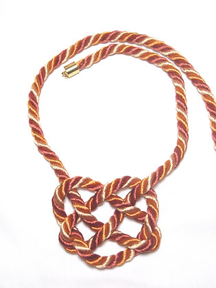 Orange & Red Heart Knot