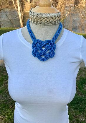 Capri Blue Double Heart Knot