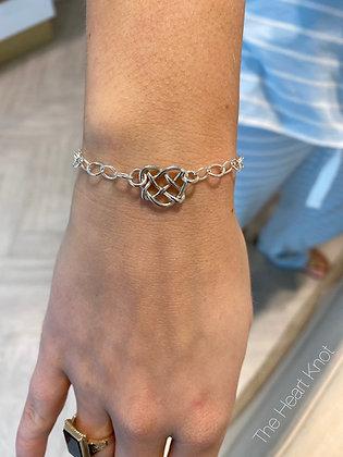 Tiny Heart Bracelet in Sterling Silver