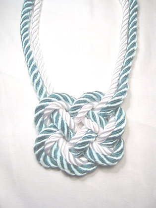 Nautical Stripe Heart Knot (white outside)
