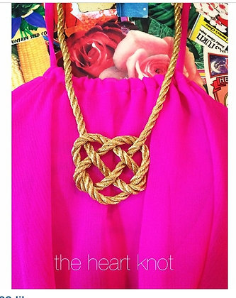 Shining Golden Heart Knot