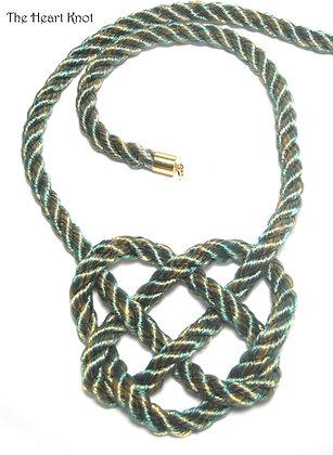 Green & Gold Heart Knot