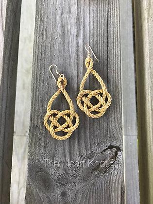 Golden Double Coin Earrings