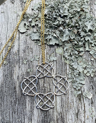 Circle of Love Pendant in Sterling Silver