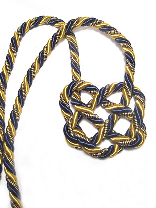 Gold & Navy Heart Knot