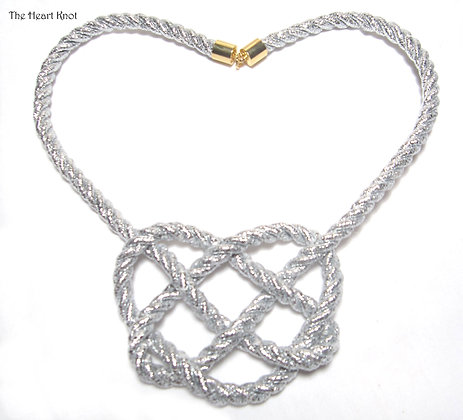 Silver Heart Knot