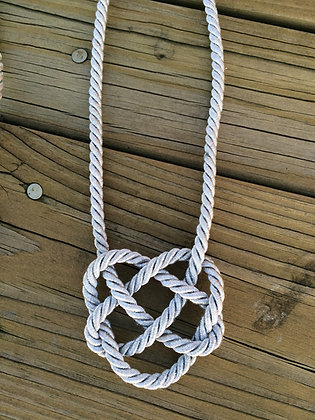 Silver Rope Heart Knot