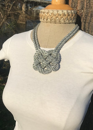 Double Silver Heart Knot