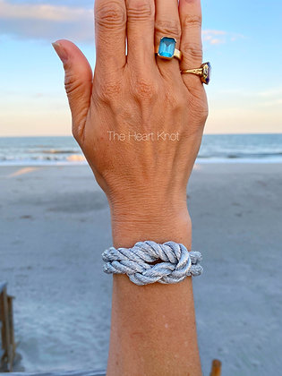 Silver Lover's Knot Bracelet