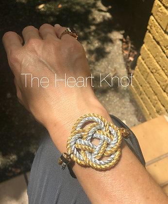 Silver & Gold Circle Knot Bracelet
