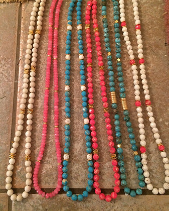 30 in long necklaces + pendant