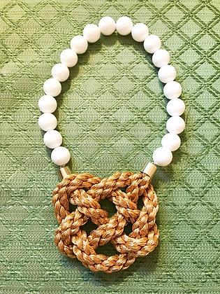 White Onyx Golden Braid