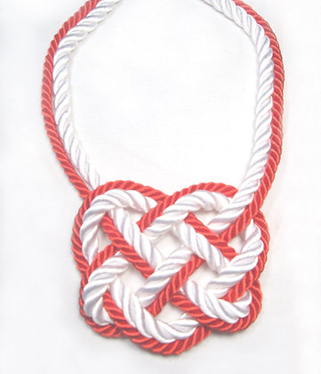 Thin Red Line Heart Knot