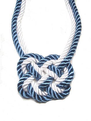 Nautical Stripe Heart Knot (Blue outside)