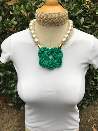 Emerald Green on Cotton Pearls