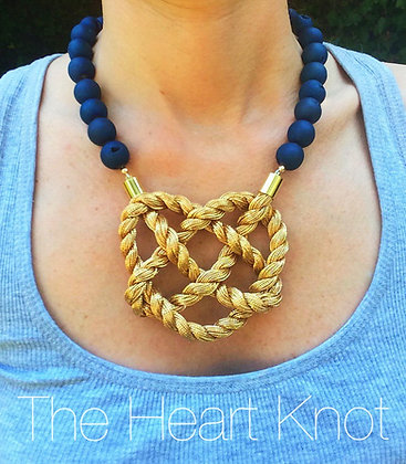 Electric Blue Heart Knot