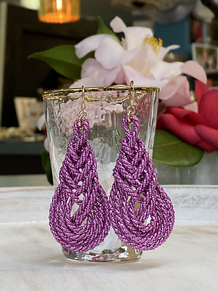 Pipa Earrings in Fuchsia
