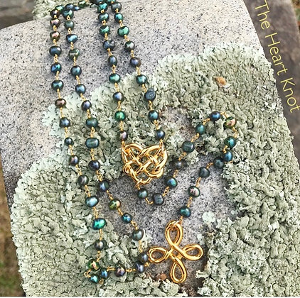 Peacock Pearl Rosary