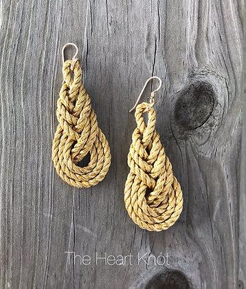 Golden Pipa Knot Earrings
