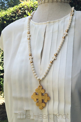 Trinity Cross on Ivory and Cross Chain