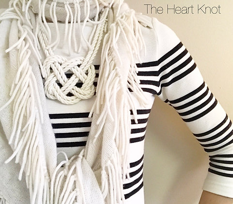 Double Heart Knot in White