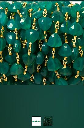 St. Brigid - Green Onyx