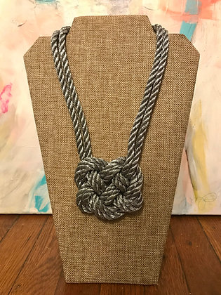 Double Pewter Heart Knot