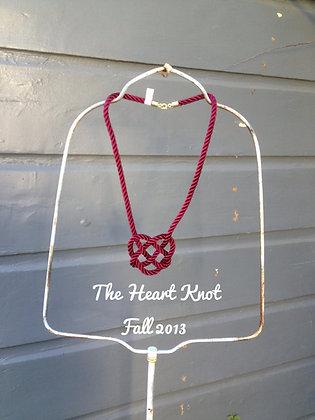 Garnet Heart Knot - 30 inch