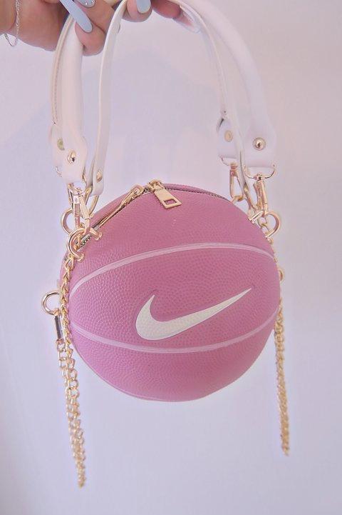 Just do It! Pink Basketball Purse