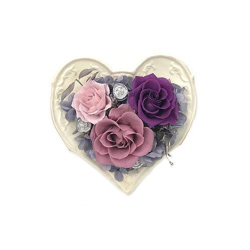玫瑰心形擺設 (永生花) PFF050